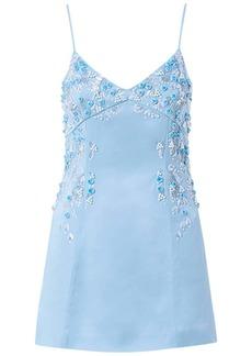 Blumarine Embroidered Viscose Blend Mini Dress
