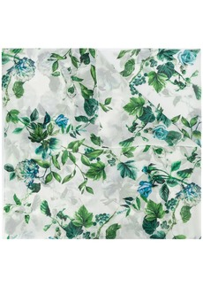 Blumarine floral embroidered scarf