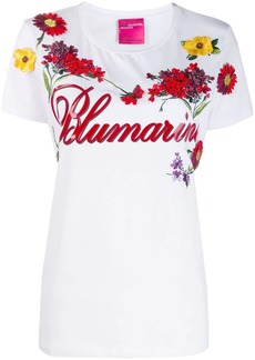 Blumarine floral embroidery T-shirt
