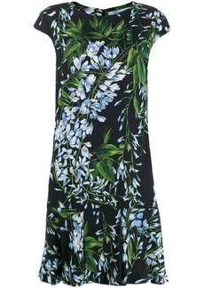 Blumarine floral flared midi dress