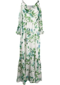 Blumarine floral-print long dress
