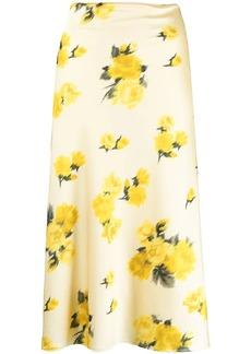 Blumarine floral print midi skirt