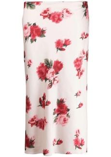 Blumarine floral-print midi skirt
