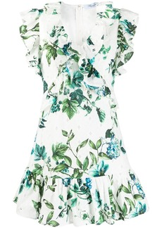 Blumarine floral print ruffled dress