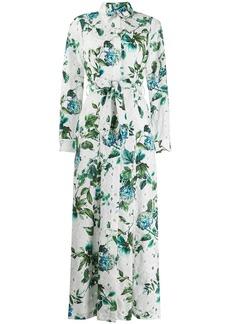 Blumarine floral print shirt dress