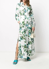 Blumarine floral print shirt dress