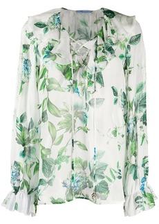 Blumarine floral print silk blouse