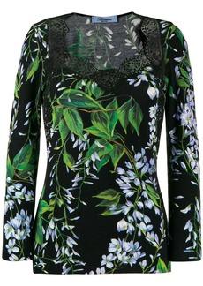 Blumarine floral-print top