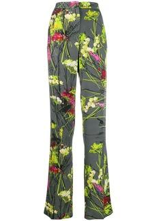 Blumarine floral straight leg trousers