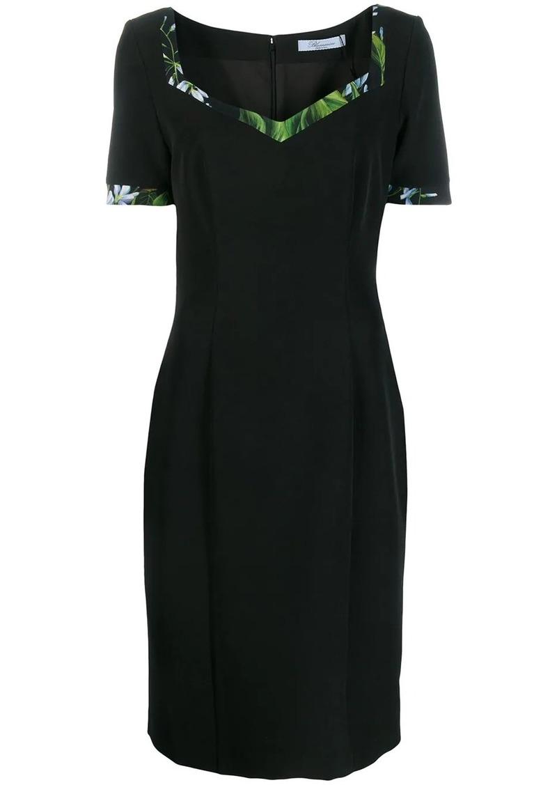 Blumarine floral-trimmed midi dress