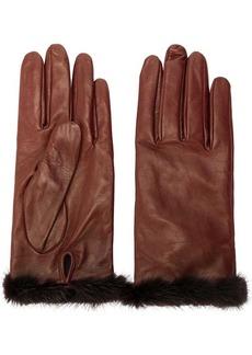 Blumarine fur trimmed gloves