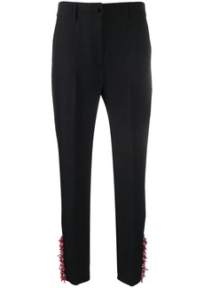 Blumarine high-waisted embellished trousers