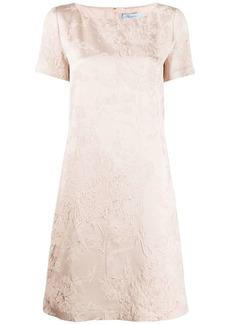 Blumarine jacquard short-sleeved dress