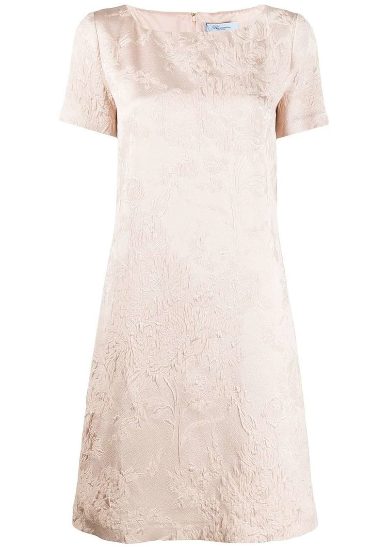 Blumarine jacquard short-sleeved dress