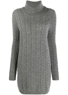 Blumarine knitted roll neck dress