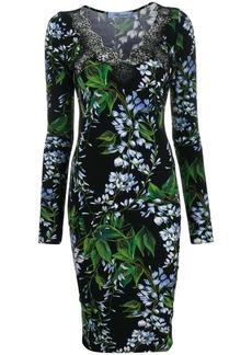 Blumarine lace V-neck dress