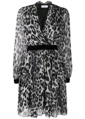 Blumarine leopard print wrap dress