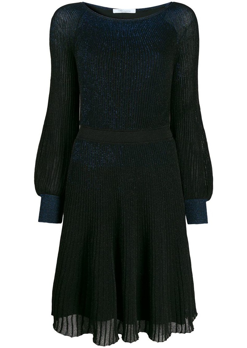 Blumarine metallic-effect knit dress