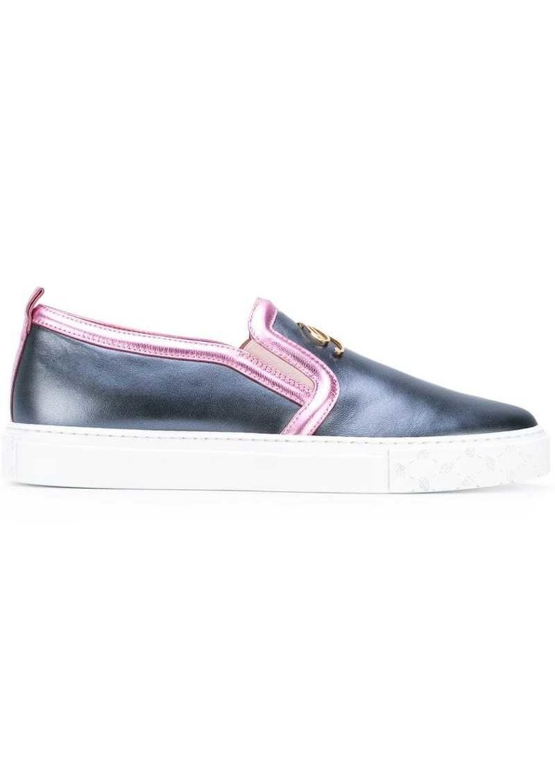 Blumarine metallic slip-on sneakers