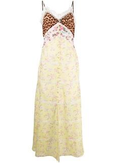 Blumarine mix-print sleeveless maxi dress