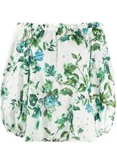 Blumarine off-shoulder floral blouse
