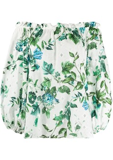 Blumarine off-shoulder floral blouse
