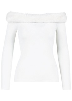 Blumarine Off-the-shoulder Viscose Blend Top