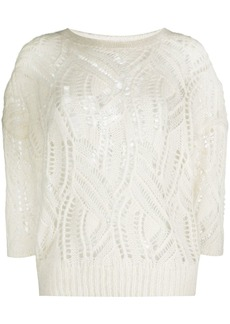 Blumarine open-knitted jumper