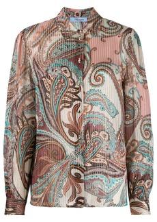 Blumarine paisley-print satin shirt