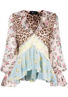 Blumarine patchwork peplum blouse