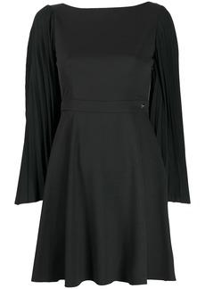 Blumarine pleated-sleeve mini dress