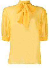 Blumarine pussy bow blouse
