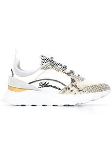 Blumarine python print sneakers