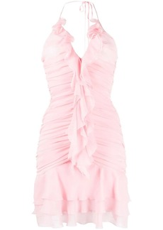 Blumarine ruffle-panel dress
