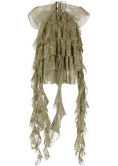 Blumarine ruffled-lace blouse