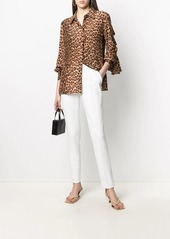 Blumarine ruffled silk shirt