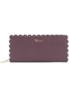Blumarine scalloped edge wallet