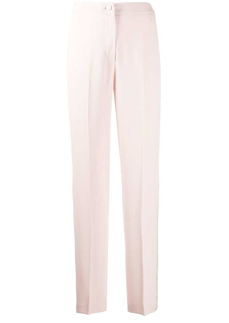 Blumarine side studded pleated trousers