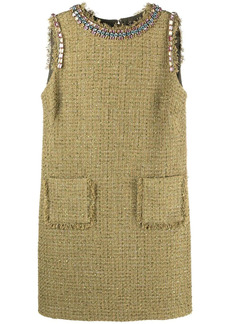 Blumarine sleeveless tweed dress