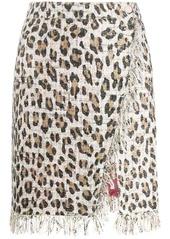 Blumarine straight fit leopard print skirt