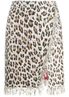 Blumarine straight fit leopard print skirt