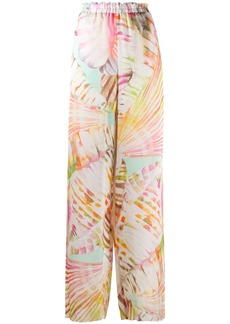 Blumarine Summer Vibe wide trousers