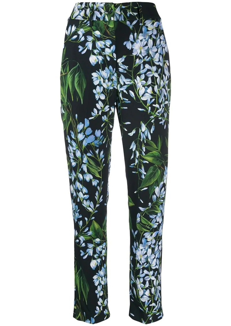 Blumarine tapered floral print trousers