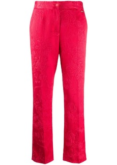 Blumarine textured floral patterned trousers