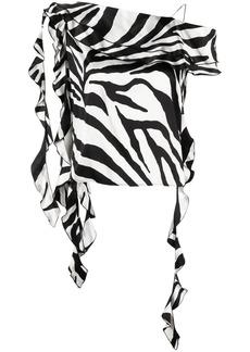 Blumarine zebra-print silk blouse