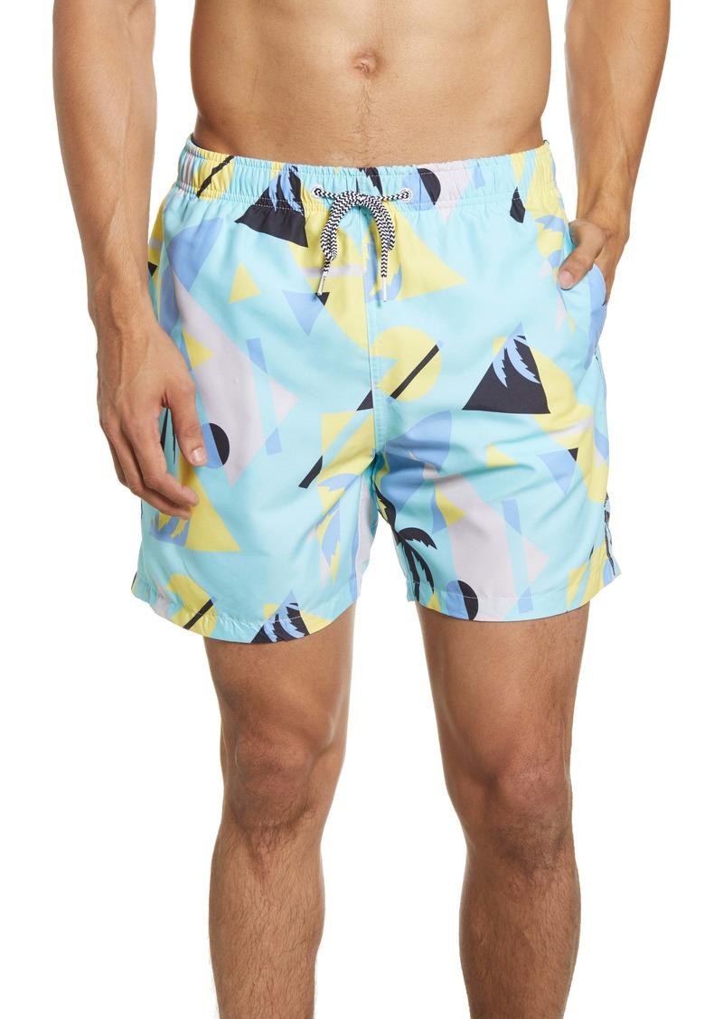 Boardies Overlay Mint Swim Trunks