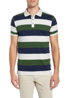 Bobby Jones Rule 18 Regular Fit Wide Stripe Polo