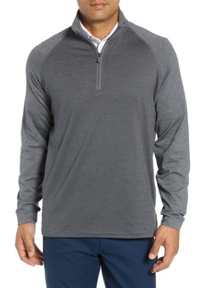 Bobby Jones XH2O Raglan Stripe Quarter Zip Pullover