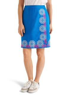 Boden Anville Embroidered Wrap Skirt