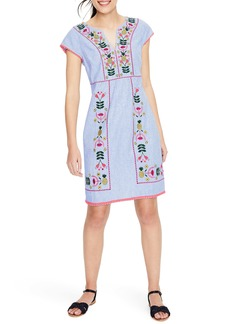 Boden Bea Embroidered Linen Dress (Regular, Petite & Plus Size)